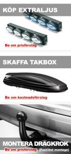 Bilverkstad Bromma erbjuder extraljus, takbox och dragkrok